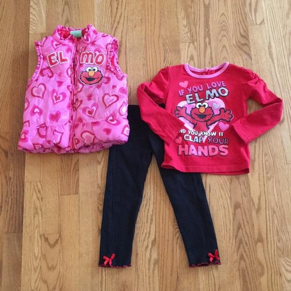 7eb5258d2f01d Sesame Street Matching Sets | 3pc Elmo Puffer Vest Set 4t | Poshmark